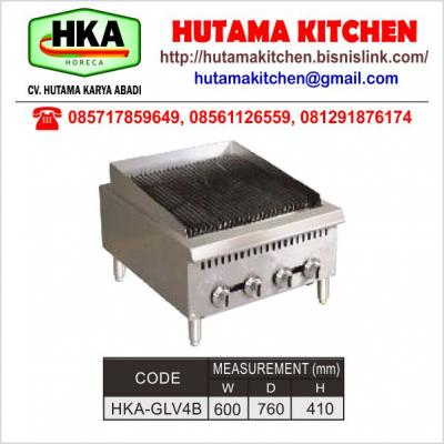 HUTAMA KITCHEN MENJUAL GAS LAVAROCK GRILL 4 BURNER - PORTABLE